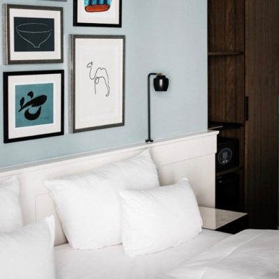 Hotel Kong Arthur rooms with Nola lamps customized version by Cph Lighting